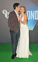 """David Conrad and Juliet Rylance at the 65th BFI London Film Festival """"The Phantom of the Open"""" world premiere, Royal Festival Hall, Belvedere Road, on Tuesday 12th October 2021, in London, England, UK. <br /> CAP/CAN<br /> ©CAN/Capital Pictures"""