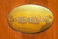 The brass plate on the entrance door of Maison Louis Jadot., Maison Louis Jadot, Beaune Côte Cote d Or Bourgogne Burgundy Burgundian France French Europe European