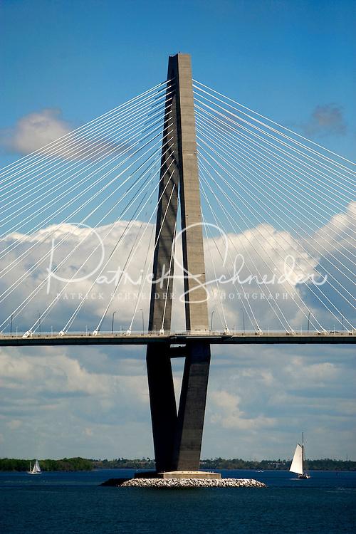 The Cooper River Bridge in Charleston, SC.