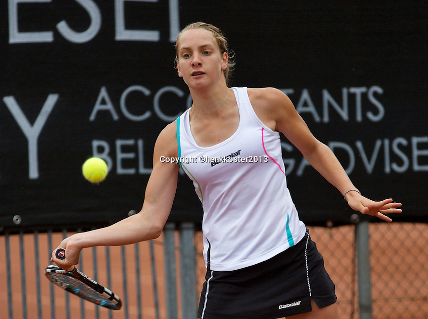 07-08-13, Netherlands, Rotterdam,  TV Victoria, Tennis, NJK 2013, National Junior Tennis Championships 2013, Isolde de Jong<br /> <br /> <br /> Photo: Henk Koster