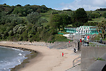 Swansea, UK, 11th May 2020.<br />Nearly empty beach and seafront at Langland Bay near Swansea this morning as the devolved Welsh government continue to ask people in Wales to stay at home due to the Coronavirus pandemic.
