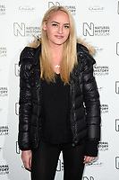 Daisy Robins<br /> arriving for the Natural History Museum Ice Rink launch party 2017, London<br /> <br /> <br /> ©Ash Knotek  D3340  25/10/2017