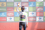 Egan Bernal (COL) Ineos Grenadiers retains the young riders White Jersey at the end of Stage 7 of La Vuelta d'Espana 2021, running 152km from Gandia to Balcon de Alicante, Spain. 20th August 2021.     <br /> Picture: Luis Angel Gomez/Photogomezsport | Cyclefile<br /> <br /> All photos usage must carry mandatory copyright credit (© Cyclefile | Luis Angel Gomez/Photogomezsport)