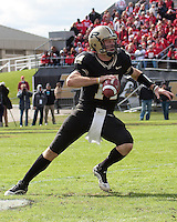 Purdue quarterback Joey Elliott. The Purdue Bboilermakers defeated the Ohio State Buckeyes 26-18 at Ross-Ade Stadium, West Lafayette, Indiana on October 17, 2009..