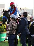 May 01,, 2021: Jockey John Velazquez and Kentucky Derby winner Medina Spirit celebrate with owner Amr Zedan and trainer Bob Baffert  at Churchill Downs.  Louisville, KY on May 01, 2021.  Candice Chavez/ESW/CSM