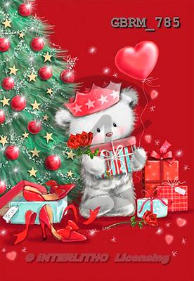 Roger, CHRISTMAS ANIMALS, paintings+++++,GBRM785,#XA#