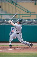 Dartmouth Big Green first baseman Michael Calamari (3) follows through on a swing during a game against the USF Bulls on March 17, 2019 at USF Baseball Stadium in Tampa, Florida.  USF defeated Dartmouth 4-1.  (Mike Janes/Four Seam Images)