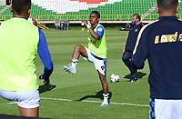 TUNJA - COLOMBIA, 30-11-2020:Boyacá Chicó y Patriotas Boyacá durante partido de la fecha 2 por la Liguilla BetPlay DIMAYOR 2020 jugado en el estadio La Independencia de la ciudad de Tunja. / Boyaca Chico and Patriotas Boyaca during a match of the 2st date for the BetPlay DIMAYOR Liguilla 2020 played at the La Independencia  Stadium in Tunja city. / Photos: VizzorImage / Macgiver Baron / Contribuidor
