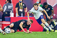 5th September 2021; Nashville, TN, USA;  United States forward Brenden Aaronson (11) chases the loose ball during a CONCACAF World Cup qualifying match between the United States and Canada on September 5, 2021 at Nissan Stadium in Nashville, TN.