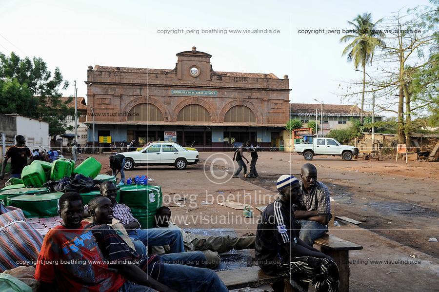 MALI, Bamako , old railway station from french colonial time, railway line Dakar–Niger connecting Dakar in Senegal with Koulikoro in Mali