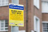 Metropolitan Police crime prevention notice, London.