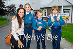 Noah Hussey on his first day at Junior Infants in Scoil Eoin Balloonagh on Wednesday, l to r: Helen, Pheobe, Noah and Avery Hussey.