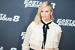 """Charlize Theron during the presentation of the film """"Fast & Furious 8"""" at Hotel Villa Magna in Madrid, April 06, 2017. Spain.<br /> (ALTERPHOTOS/BorjaB.Hojas)"""