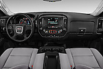 Stock photo of straight dashboard view of 2018 GMC Sierra-2500HD 2WD-Double-Cab-Long-Box 4 Door Pick-up Dashboard