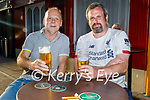 Enjoying the evening in the Crannog on Saturday, l to r: Mike Mahoney (Tralee) and Brian Leahy (Listowel).