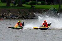 Frame 1: 300-P comes together with 911-Q, turns away and then is ejected from the boat.   (Outboard Hydroplanes)