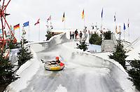 Nederland  Scheveningen  2016. Cool Event. Ice Roetsjbaan bij de Pier. Foto Berlinda van Dam / Hollandse Hoogte