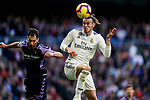 Gareth Bale of Real Madrid heads the ball during the La Liga 2018-19 match between Real Madrid and Real Valladolid at Estadio Santiago Bernabeu on November 03 2018 in Madrid, Spain. Photo by Diego Souto / Power Sport Images