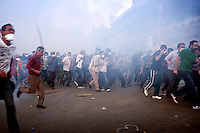 Magali Corouge/Documentography<br />Istanbul, Turkey, the 11th of June 2013.<br /><br />Police started to evacuate Taksim square, on the early morning of the 11th of June, after more than a week of occupation. <br /><br />Around 8pm, in the middle of Taksim Square, police used a huge number of tear gaz to dispatch the croud that came for a demonstration.