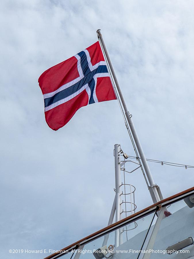 Norway flag on Viking Sky