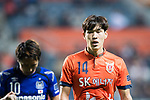 Jeju United Midfielder Lee Changmin in action during the AFC Champions League 2017 Group H match Between Jeju United FC (KOR) vs Gamba Osaka (JPN) at the Jeju World Cup Stadium on 09 May 2017 in Jeju, South Korea. Photo by Marcio Rodrigo Machado / Power Sport Images
