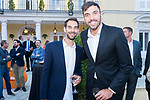 Players Jose Manuel Calderon (l) and Pierre Oriola during the first edition of Spanish Basketball Awards. July 25, 2019. (ALTERPHOTOS/Francis Gonzalez)