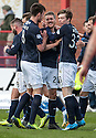 Dundee's Jim McAlister celebrates after he scores their third goal.
