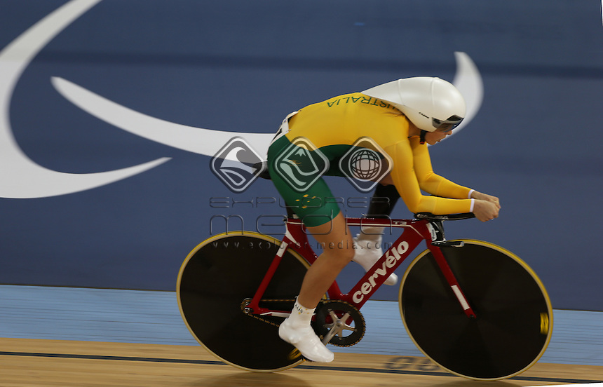 Alexandra Green (AUS) competes in the C4 Pursuit.<br /> Track Cycling (Thursday 29th Aug)<br /> Paralympics - Summer / London 2012<br /> London England 29 Aug - 9 Sept <br /> © Sport the library/Joseph Johnson