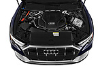 Car Stock 2021 Audi A6-Allroad Premium-Plus 5 Door Wagon Engine  high angle detail view