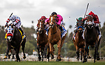 MAR 07:Mike Smith give a hug t o Honor Ap after his run in the San Felipe Stakes at Santa Anita Park in Arcadia, California on March 7, 2020. Evers/Eclipse Sportswire/CSM