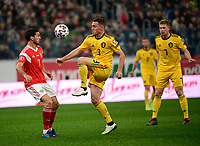 Thomas Vermaelen defender of Belgium, Magomed Ozdoev midfielder of Russia  <br /> Saint Petersbourg  - Qualification Euro 2020 - 16/11/2019 <br /> Russia - Belgium <br /> Foto Photonews/Panoramic/Insidefoto <br /> ITALY ONLY