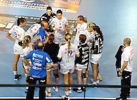 European Handball Federation EHF Handball - European Cup - Palais des Sports in St. Raphael - Toulon Saint Cyr Var HB (FRA) vs. HC Leipzig (GER) - im Bild: HCL Trainer / Coach Stefan Madsen unzufrieden..Foto: aif / Norman Rembarz..Jegliche kommerzielle wie redaktionelle Nutzung ist honorar- und mehrwertsteuerpflichtig! Persönlichkeitsrechte sind zu wahren. Es wird keine Haftung übernommen bei Verletzung von Rechten Dritter. Autoren-Nennung gem. §13 UrhGes. wird verlangt. Weitergabe an Dritte nur nach  vorheriger Absprache. Online-Nutzung ist separat kostenpflichtig..