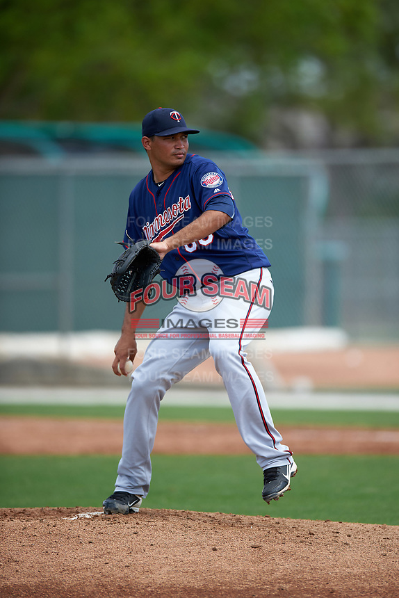 Minnesota Twins David Martinez (66) during a minor league Spring Training game against the Baltimore Orioles on March 16, 2016 at CenturyLink Sports Complex in Fort Myers, Florida.  (Mike Janes/Four Seam Images)