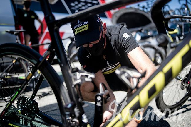 last bike preps ahead of the race at Mitchelton-Scott<br /> <br /> 101st Milano-Torino 2020 (UCI 1.Pro)<br /> 1 day race from Mesero to Stupinigi (198km)