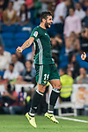 Antonio Barragan Fernandez of Real Betis celebrates during the La Liga 2017-18 match between Real Madrid and Real Betis at Estadio Santiago Bernabeu on 20 September 2017 in Madrid, Spain. Photo by Diego Gonzalez / Power Sport Images