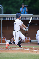 Glen Batson (35) of the High Point-Thomasville HiToms follows through on his swing against the Asheboro Copperheads at Finch Field on June 12, 2015 in Thomasville, North Carolina.  The HiToms defeated the Copperheads 12-3. (Brian Westerholt/Four Seam Images)