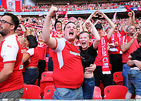 27th May 2018, Wembley Stadium, London, England;  EFL League 1 football, playoff final, Rotherham United versus Shrewsbury Town; Rotherham United fans celebrate after the final whistle