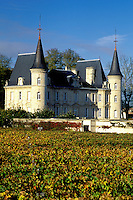France, Bordeaux Wine Region, Gironde, Chateau Pichon-Longueville, Aquitaine, Europe, Medoc Vineyards.