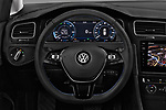 Car pictures of steering wheel view of a 2017 Volkswagen Golf e 5 Door Hatchback Steering Wheel
