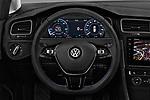 Car pictures of steering wheel view of a 2017 Volkswagen Golf e 5 Door Hatchback Steering Wheel