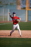 Austin Oliver (10) of Elkton High School in Elkton, Maryland during the Baseball Factory All-America Pre-Season Tournament, powered by Under Armour, on January 13, 2018 at Sloan Park Complex in Mesa, Arizona.  (Mike Janes/Four Seam Images)