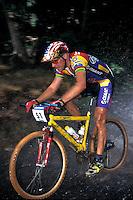 John Tomac team Giant Grundig World Cup .Plymouth , Devon  1995/6? .pic copyright Steve Behr / Stockfile
