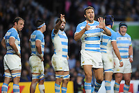 Juan Martin Hernandez of Argentina signals during the Semi Final of the Rugby World Cup 2015 between Argentina and Australia - 25/10/2015 - Twickenham Stadium, London<br /> Mandatory Credit: Rob Munro/Stewart Communications