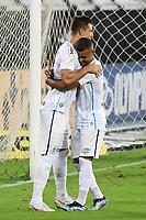 Rio de Janeiro (RJ), 08/02/2021 - Botafogo-Grêmio - Diego Churin jogador do Grêmio comemora seu gol,durante partida contra o Botafogo,válida pela 35ª rodada do Campeonato Brasileiro,realizada no Estádio Nilton Santos (Engenhão), na zona norte do Rio de Janeiro,nesta segunda-feira (08).