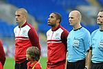 14th August 2013 - Cardiff - UK : Wales v Republic of Ireland - Vauxhall International Friendly at Cardiff City Stadium :  Wales Captain Ashley Williams.