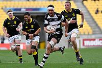 Tom Parsons of Hawkes Bay runs with the ball during the Bunnings NPC - Wellington v Hawke's Bay at Sky Stadium, Wellington, New Zealand on Sunday 26 September 2021.<br /> Photo by Masanori Udagawa. <br /> www.photowellington.photoshelter.com