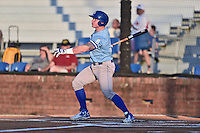 Burlington Royals designated hitter Chris DeVito (34) swings at a pitch during Game Two of the Appalachian League Championship series against the Johnson City Cardinals at TVA Credit Union Ballpark on September 7, 2016 in Johnson City, Tennessee. The Cardinals defeated the Royals 11-6 to win the series 2-0.. (Tony Farlow/Four Seam Images)