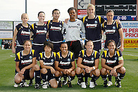 Los Angeles Sol starting eleven. The Los Angeles Sol defeated Sky Blue FC 2-0 during a Women's Professional Soccer match at TD Bank Ballpark in Bridgewater, NJ, on April 5, 2009. Photo by Howard C. Smith/isiphotos.com