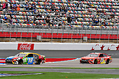 #18: Kyle Busch, Joe Gibbs Racing, Toyota Camry M&M's, #20: Erik Jones, Joe Gibbs Racing, Toyota Camry Craftsman ACE/CMN