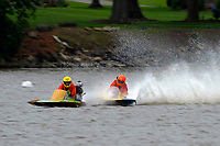 Frame 5: 300-P comes together with 911-Q, turns away and then is ejected from the boat.   (Outboard Hydroplanes)